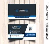 blue business card template   Shutterstock .eps vector #682896904