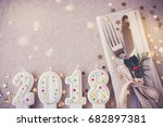 new year eve 2018  christmas... | Shutterstock . vector #682897381