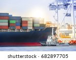 logistics import export... | Shutterstock . vector #682897705