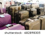 luggage a lot of large... | Shutterstock . vector #682898305