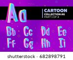 children's comic vector font in ... | Shutterstock .eps vector #682898791