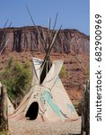 Small photo of Traditional Native American Indian teepee tent