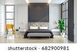 luxury house.  interior of... | Shutterstock . vector #682900981