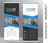 roll up banner stand template... | Shutterstock .eps vector #682904917