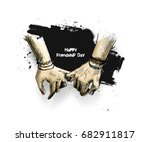 friendship day with holding... | Shutterstock .eps vector #682911817