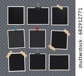 vector photo frame.set of... | Shutterstock .eps vector #682912771