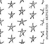 hand drawn grunge seamless... | Shutterstock .eps vector #682913755
