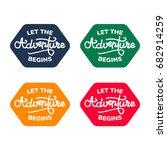 let the adventure begins  | Shutterstock .eps vector #682914259