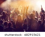 crowd at concert   cheering... | Shutterstock . vector #682915621