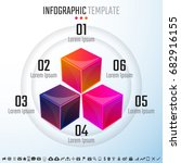 infographics design template...   Shutterstock .eps vector #682916155