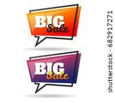sale banner design template...   Shutterstock .eps vector #682917271
