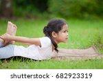 cute asian little child girl... | Shutterstock . vector #682923319