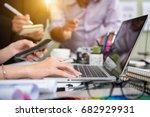 business team meeting. photo... | Shutterstock . vector #682929931