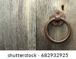 Ancient Locker On Wooden Door ...