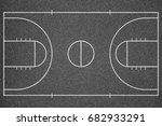 basketball court top view.... | Shutterstock . vector #682933291
