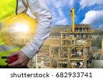 engineering industry concept... | Shutterstock . vector #682933741