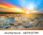 aerial view of opencast mining... | Shutterstock . vector #682933789