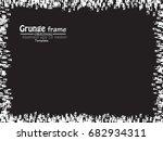 grunge frame. vector... | Shutterstock .eps vector #682934311