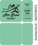 vector illustration ticket... | Shutterstock .eps vector #682938451