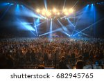 concert in the closed hall with ... | Shutterstock . vector #682945765