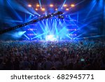concert in the closed hall with ... | Shutterstock . vector #682945771