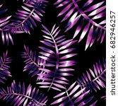 leaves seamless pattern....   Shutterstock . vector #682946257