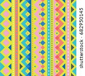 seamless pattern with colorful... | Shutterstock .eps vector #682950145