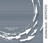 arrows moving in circular form...   Shutterstock .eps vector #682952251