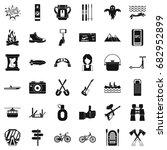 great adventure icons set.... | Shutterstock .eps vector #682952899