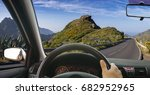 view from the cockpit of a car... | Shutterstock . vector #682952965
