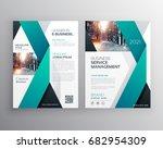 blue professional business... | Shutterstock .eps vector #682954309
