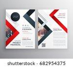 modern business brochure flyer... | Shutterstock .eps vector #682954375