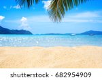 sand beach and beautiful sea... | Shutterstock . vector #682954909