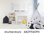 tent in modern children's... | Shutterstock . vector #682956094