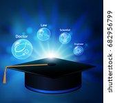 graduate learning vector design. | Shutterstock .eps vector #682956799