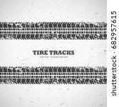 vector tire tracks background... | Shutterstock .eps vector #682957615