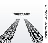 road tire tracks perspective... | Shutterstock .eps vector #682957675
