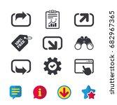 action icons. share symbols....