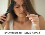 problem with hair | Shutterstock . vector #682972915