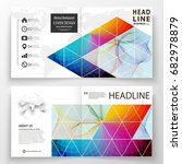 business templates for square... | Shutterstock .eps vector #682978879