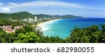 top view to the tropical island ... | Shutterstock . vector #682980055