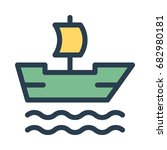 boat icon | Shutterstock .eps vector #682980181