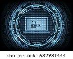malware ransomware virus... | Shutterstock .eps vector #682981444