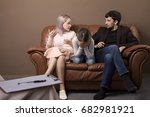 family psychotherapy. family on ... | Shutterstock . vector #682981921