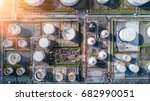 aerial view oil refinery ... | Shutterstock . vector #682990051