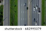 aerial view of expressway ... | Shutterstock . vector #682995379