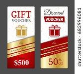 gift voucher template. can be... | Shutterstock .eps vector #682996081