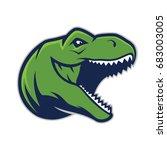 raptor head mascot   Shutterstock .eps vector #683003005