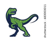 raptor mascot   Shutterstock .eps vector #683003011