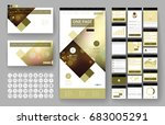 website template  one page... | Shutterstock .eps vector #683005291